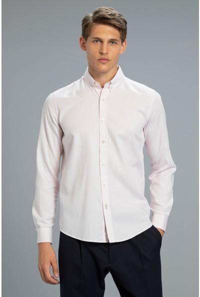 Lufian Pesaro Smart Gömlek Comfort Slim Fit Saks