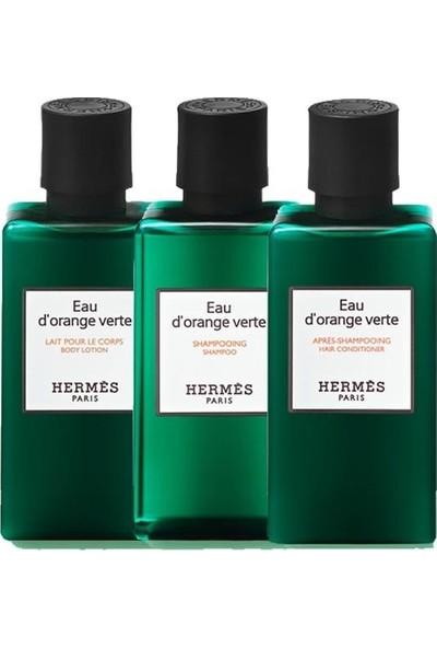 Hermes D'orange Verte 3'lü Set - Vücut Losyonu 40 ml + Şampuan 40 ml + Saç Kremi 40 ml