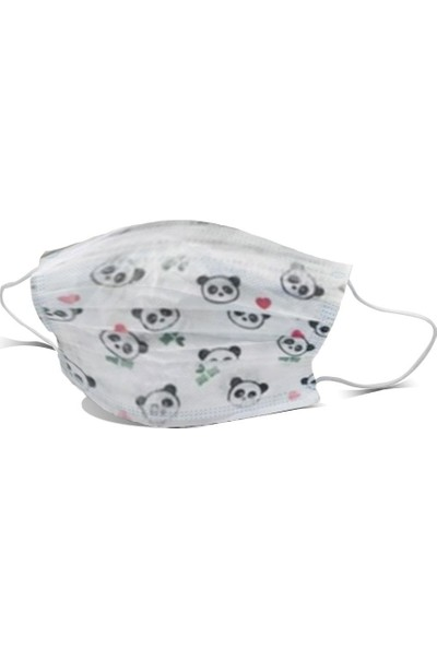 Ion Mask Panda Desenli Çocuk Medikal Cerrahi Maske 10 Adet