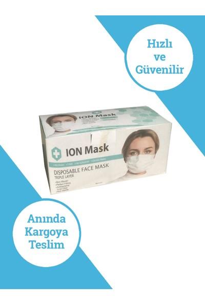 Ion Mask Pempe Yengeç Desenli Çocuk Medikal Cerrahi Maske 10 Adet