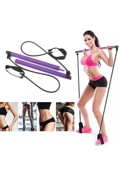 Leyaton Portable Pilates Studio Jimnastik Lastiği Egzersiz Çubuğu Yoga Plates Spor Kondisyon Direnç Aerobik