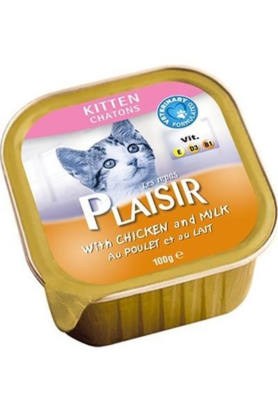Plaisir Tavuk Etli & Sütlü Yavru Yaş Kedi Maması 100 gr x 12 Adet