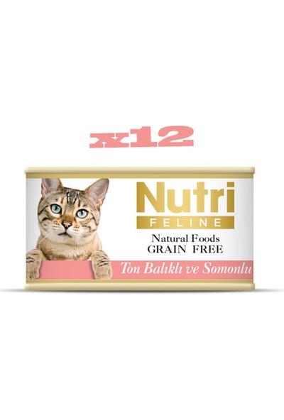 Nutri Feline Tahılsız Ton Balıklı & Somonlu Yaş Kedi Maması 85 gr x 12 Adet
