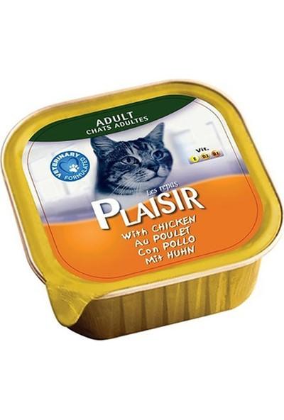Plaisir Tavuk Etli Pate Yaş Kedi Maması 100 gr x 12 Adet