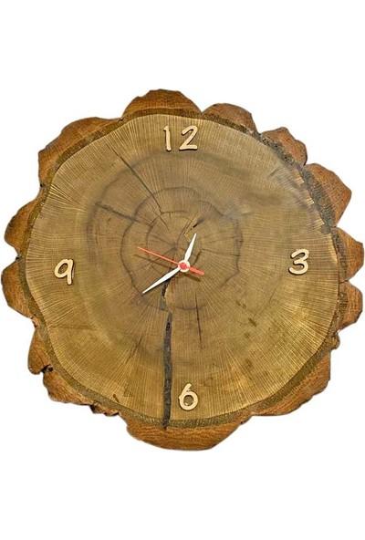 Bayz Dekoratif Duvar Saati , Doğal Ağaç Duvar Saati Retro