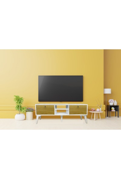 Bayz Fly Kapaklı Mobilya Tv LCD Televizyon Ünitesi Dolabı