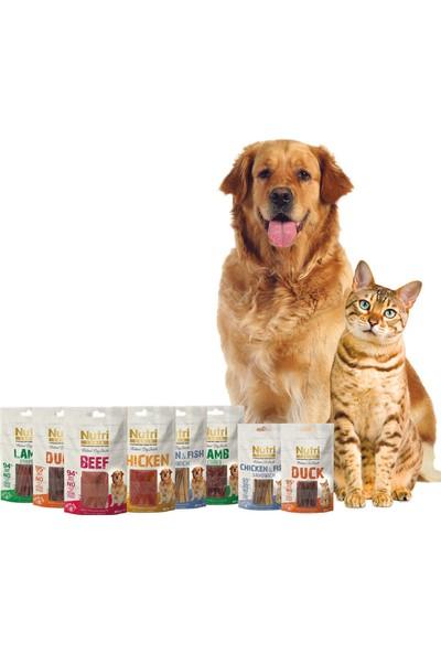 Nutri Canin Süper Premium Tahılsız Tavuk & Balık Etli Doğal Sandviç Köpek Ödülü 80 gr x 14 Adet