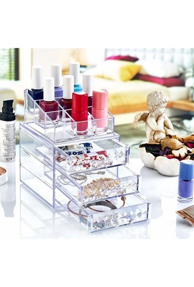 Box Up Diamond 3 Çekmeceli Makyaj Organizer Makyaj Malzemeleri Düzenleyici