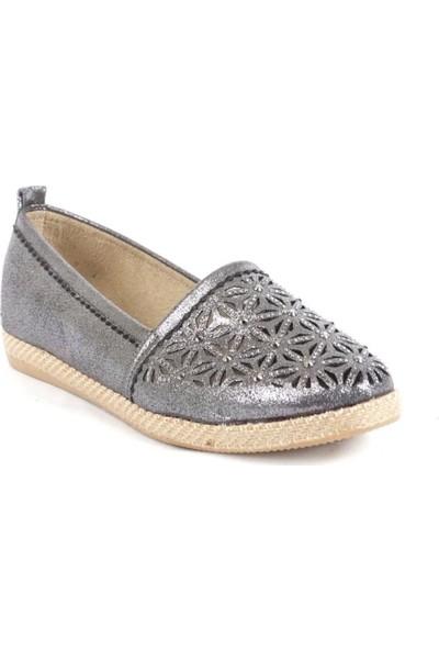 Ustalar Ayakkabı Çanta Platin Kadın Espardi Babet 240.815