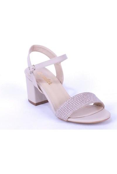 Ustalar Ayakkabı Çanta Bej Kadın Topuklu Ayakkabı 004.276