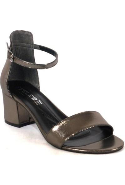 Ustalar Ayakkabı Çanta Platin Kadın Topuklu Ayakkabı 319.701