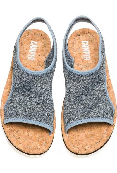 Oruga Sandal Renkli Kadın Sandalet