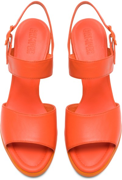 Camper Kara Sandal Turuncu Kadın Sandalet