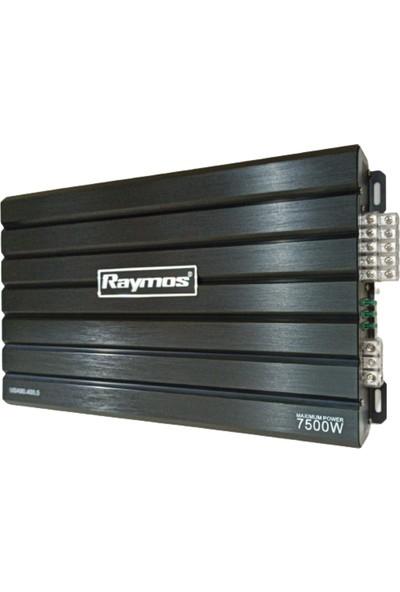 Raymos USA90.400.5 7500W 5 Kanal Bass Kontrollü Oto Amfi