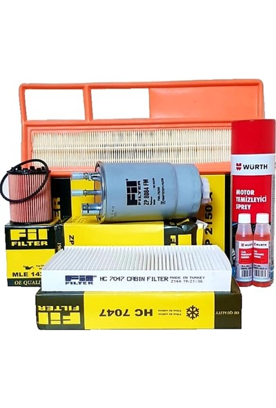 Fil Filter Fiat Fiorino 1,3 Multijet Euro 4 Bakım ve Filtre Seti