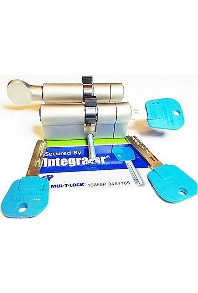 Mul-T-Lock Integratör Ikili Set - Tuzaklı Patentli Anahtarlı Barel