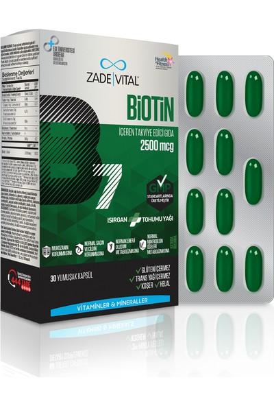 Zade Vital Biotin 2500 mcg 30 Kapsül
