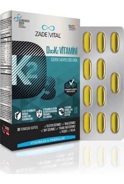 Zade Vital D3+K2 Vit Blister 30 Kapsül ZAD025488