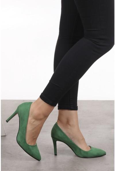 Mio Gusto Basic Yeşil Stiletto