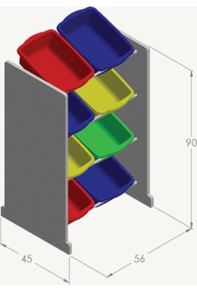 Fora Home Box In Box 8 Sepetli Oyuncak Dolabı