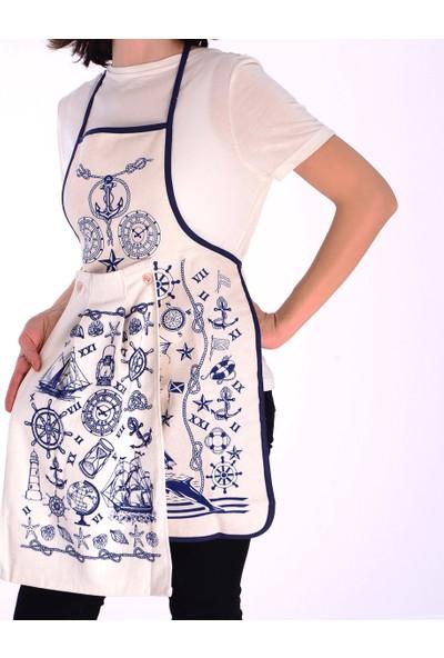 Tekstil Sepeti Denizci Temalı Havlulu Mutfak Önlüğü
