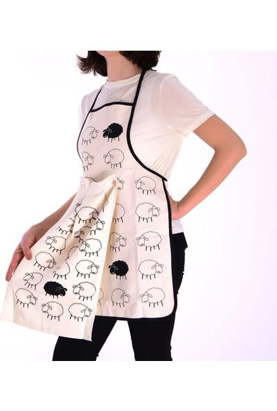Tekstil Sepeti Kuzu Desenli Havlulu Mutfak Önlüğü