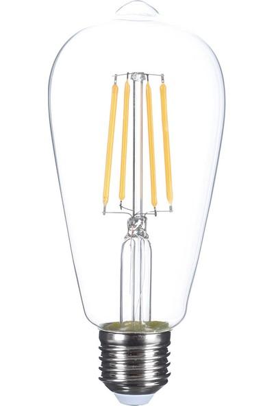 Heka LED Rustik Ampul Şeffaf 6 W E27 Gün Işığı
