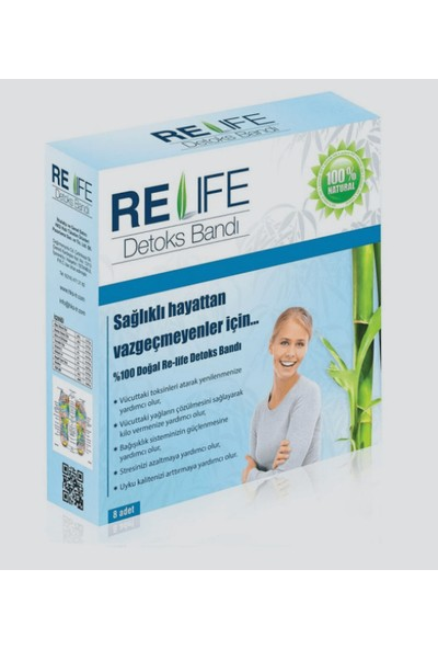 Relife 2 Adet x Detoks Ayak Bandı Detoks Bant Re-Life %100 Doğal Toksin Atıcı Ürün
