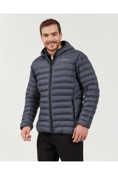 Skechers Outerwear M Padded Lightweight Jacket Erkek Gri Mont S202063-003