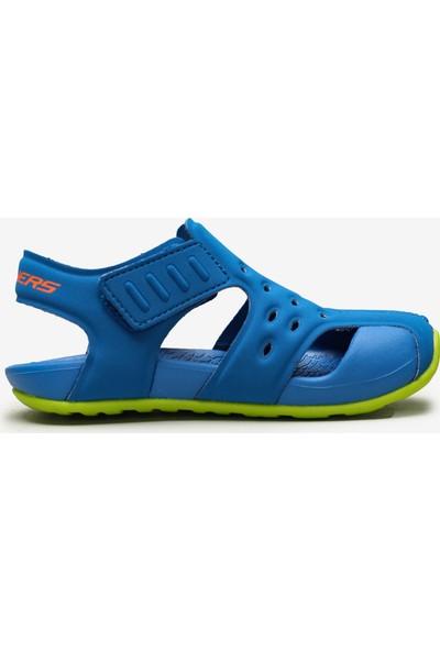 Skechers Side Wave 92330N Bllm Küçük Erkek Çocuk Mavi Sandalet