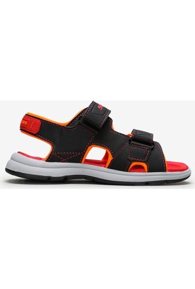 Skechers Sun Spurt 97125L Bkrd Büyük Erkek Çocuk Siyah Sandalet