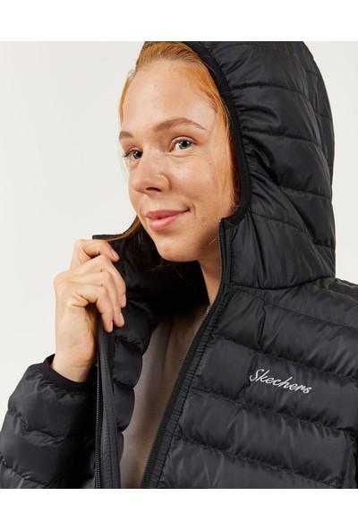 Skechers Outerwear W Padded St Hd Lightweight Jacket Kadın Siyah Mont S202117-001