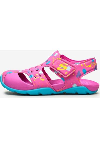 Skechers Side Wave - 86428L Hptq Büyük Kız Çocuk Pembe Sandalet