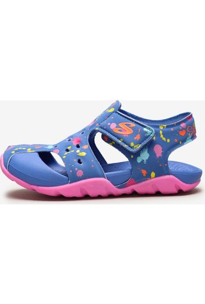 Skechers Side Wave 86428N Blpk Küçük Kız Çocuk Mavi Sandalet