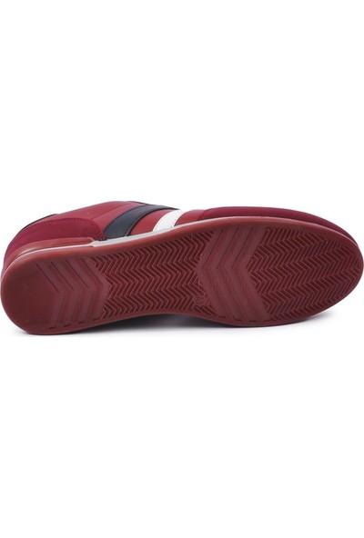 Jagulep 2202 Bordo-Lacivert-Beyaz Erkek Spor Ayakkabı