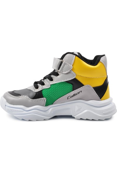 Callion 053 Füme-Buz-Yeşil Çocuk Spor Ayakkabı