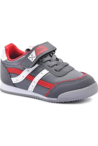 Cosby 3552 Füme-Kırmızı Çocuk Spor Ayakkabı