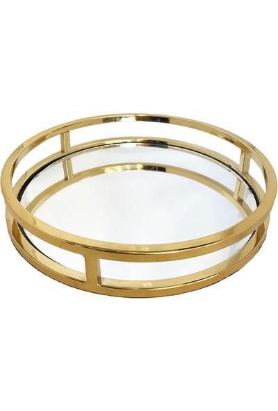 Nıle Home Sofıa Tepsı Gold Küçük