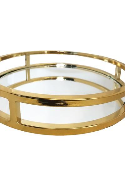 Nıle Home Sofıa Tepsı Gold Büyük