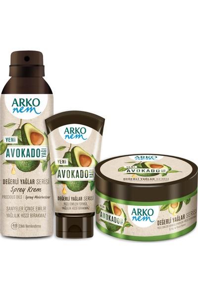 Arko Nem Değerli Yağlar Avokado Fırsat Seti 250+60+150 ml