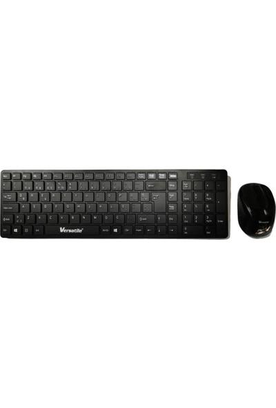 Versatile GDX7700 Siyah Kablosuz Q Standart Slim Klavye + Mouse Set