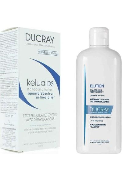 Ducray Kelual Ds Şampuan 100 ml + Elution Şampuan 200 ml