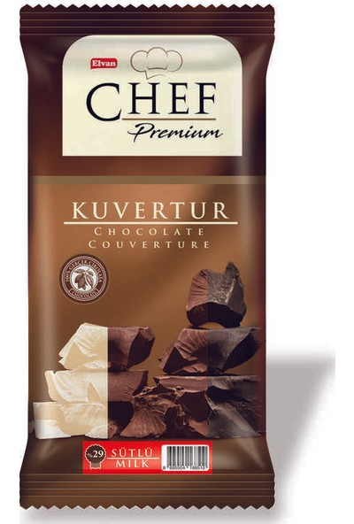 Elvan Chef %29 Sütlü Mini Kuvertür 200 gr