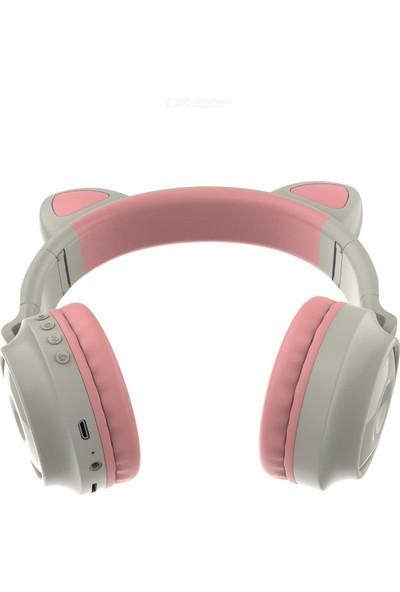 Uğurlu Kablosuz Bluetooth Kulaklık Yükses Ses Akıllı LED Işıklı