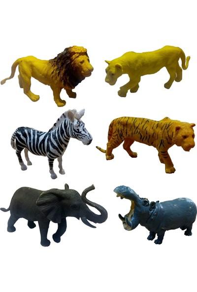 Yeşil Oyuncak Hayvan Seti 16 Parça Vahşi Hayvanlar ve Dinazorlar