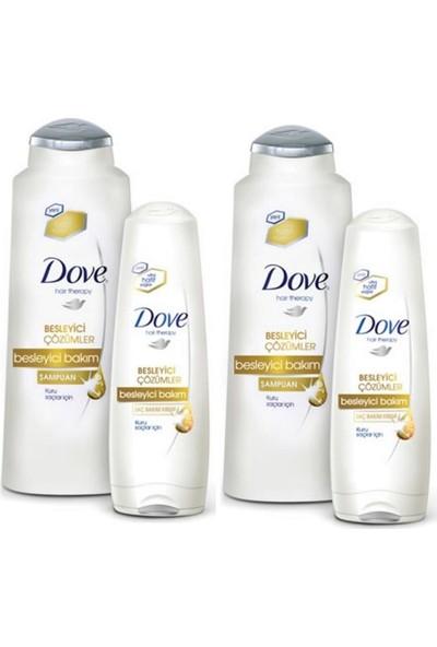 Dove Besleyici Saç Bakım Seti Şampuan 600 ml + Krem 200 ml 2 Set