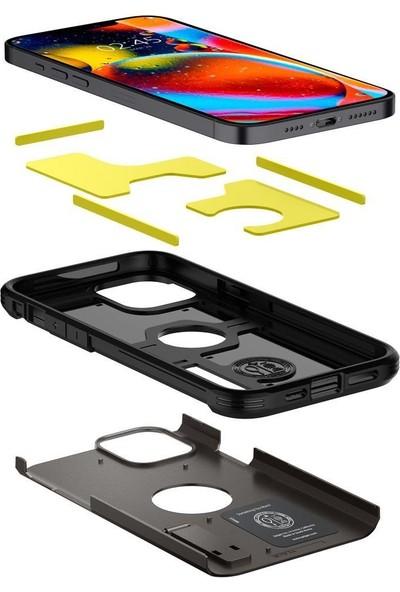 Spigen Apple iPhone 12 / iPhone 12 Pro Kılıf Tough Armor Gunmetal - ACS01709