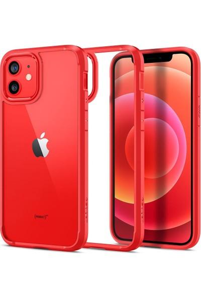Spigen Apple iPhone 12 / iPhone 12 Pro Kılıf Ultra Hybrid Red - ACS01704