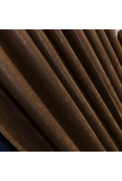 Anıper Deve Tüyü Kullanıma Hazır Fon Perde 1 Takım 2 Adet 1'e 2,5 Pile Sıklığı 60 x 190 cm