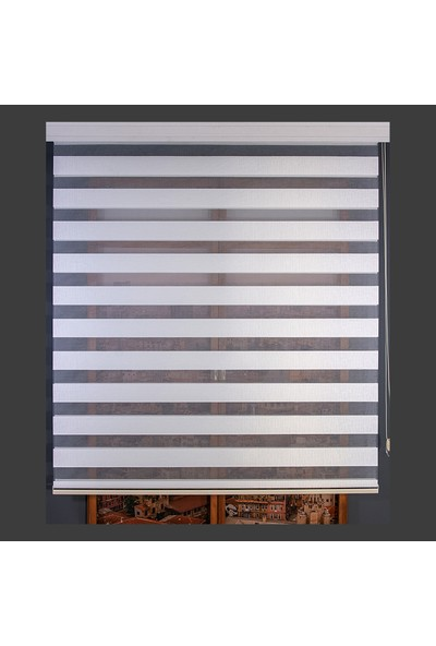Anıper Zebra Perde Beyaz Kalın Hasır Bamboo 70 x 200 cm